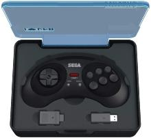 Retrobit - Sega Mega Drive Manette 8 boutons sans fil 2.4Ghz - Dongle USB/Port d'Origine inclus