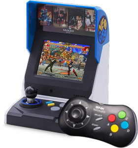 Console SNK Neo-Geo Mini HD International + Manette Noire Neo Geo offerte