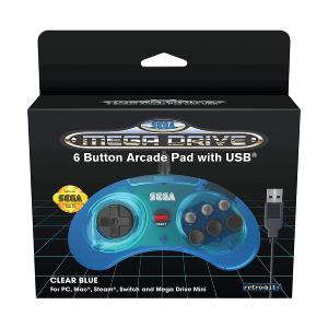Retrobit - SEGA Mega Drive 6-button USB SEGA Megadrive Mini - Blue