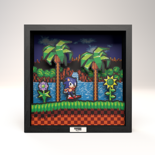 Pixel Frames Sonic The Hedgehog Idle Pose - Taille L 23x23cm