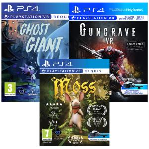 PACK VR MOSS + GHOST + GUNGRAVE PS4