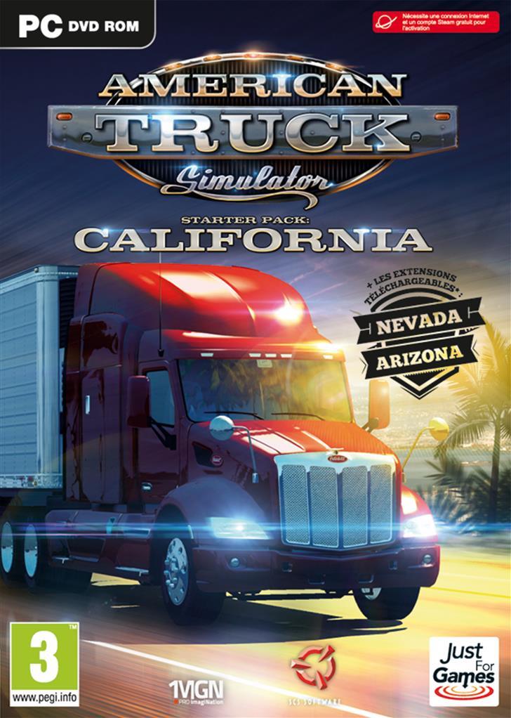 american truck simulator california jeu de simulation de conduite de camion sur pc just for games. Black Bedroom Furniture Sets. Home Design Ideas