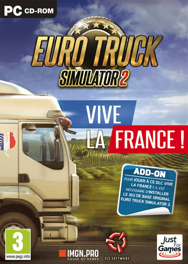 ets2 vive la france dlc jeu de simulation sur pc jeu sur pc just for games. Black Bedroom Furniture Sets. Home Design Ideas