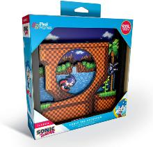 Pixel Frames Sonic The Hedgehog Loop Scene - Taille L 23x23cm