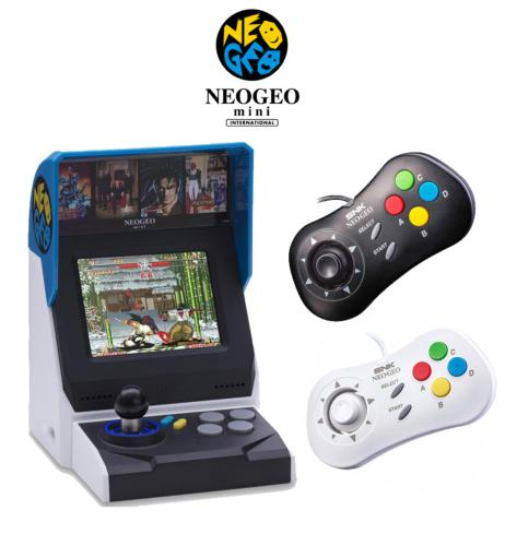 Console Neo-Geo Mini HD International + 2 manettes + protection