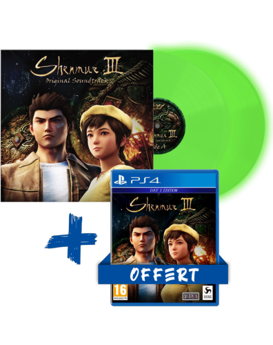 Shenmue III OST Vinyle - Glow in the dark Limited Ed - 2LP + Shenmue III PS4 - Offert